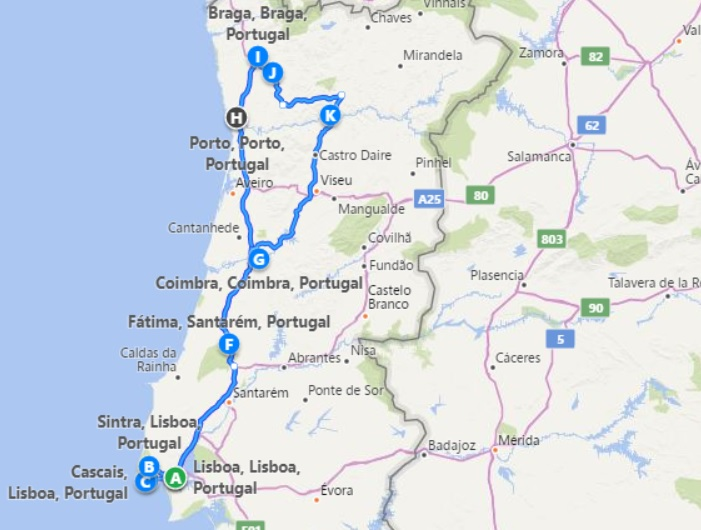 Five Days Private Tour Portugal From Lisbon Walkborder Portugal